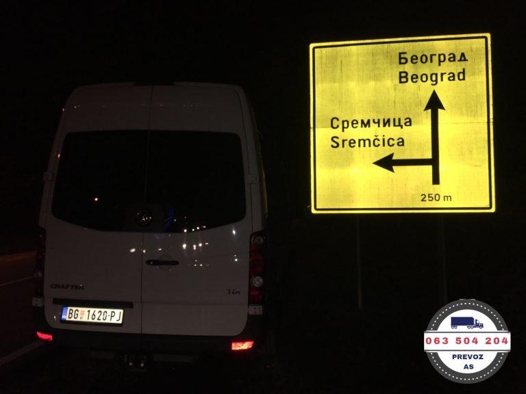 kombi prevoz beograd srbija
